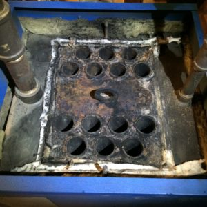 This is what that boiler's heat exchanger is supposed to look like.  Unbelievable!