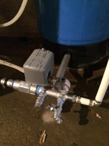 This is what your well pump pressure tank should look like.  Stainless Steel fittings are the only way to go nowadays.