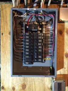 A typical looking panel installation from Sheaffer Mechanical.